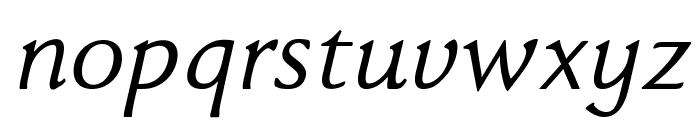 FaberDrei-Kursivreduced Font LOWERCASE