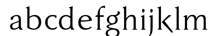 FaberDrei-Normalreduced Font LOWERCASE