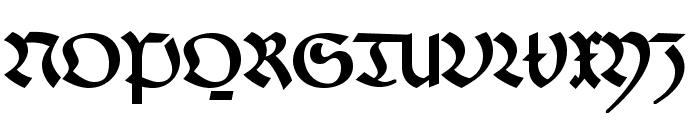 FaberFraktur-Halbfettreduced Font UPPERCASE