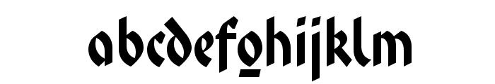 FaberFraktur-Halbfettreduced Font LOWERCASE