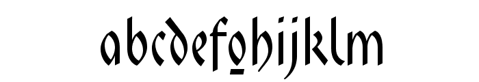 FaberFraktur-Normalreduced Font LOWERCASE
