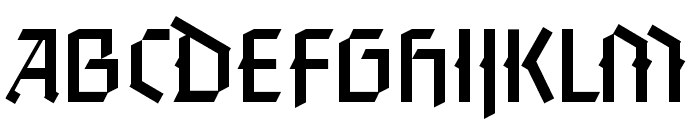 FaberGotic-Capitalsreduced Font LOWERCASE