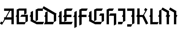 FaberGotic-Textreduced Font UPPERCASE