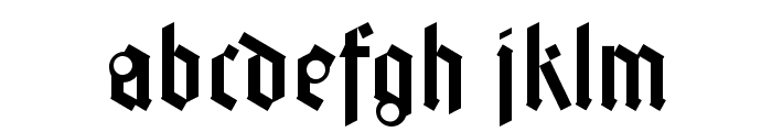 FaberGotic-Textreduced Font LOWERCASE