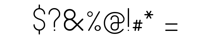 Fabiolo Light Regular Font OTHER CHARS