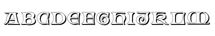 Fabliaux Shadow Font UPPERCASE