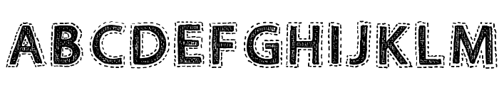 Fabrics Regular Font UPPERCASE
