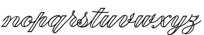 Fabulous Outline PERSONAL USE Font LOWERCASE