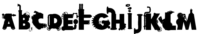Fabulous Steampunk Font UPPERCASE