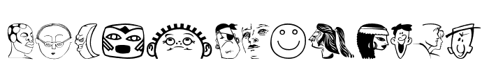 Faces2Faces Font UPPERCASE