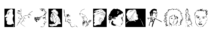 Faces Font UPPERCASE