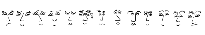 FacesFaces Font UPPERCASE