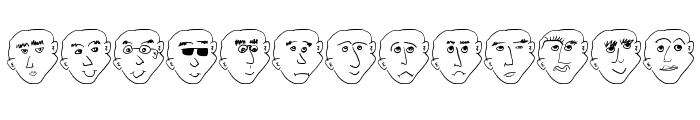 FacesFaces Font LOWERCASE