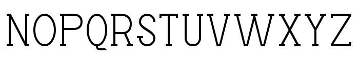 Factory LJDS Font UPPERCASE