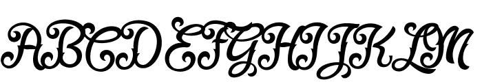 Fadli Script Font UPPERCASE