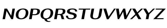 Fahkwang Bold Italic Font UPPERCASE