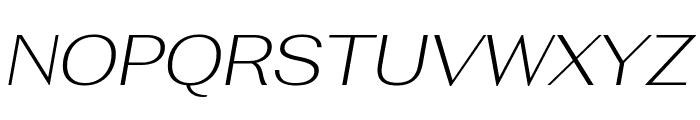 Fahkwang ExtraLight Italic Font UPPERCASE