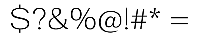 Fahkwang ExtraLight Font OTHER CHARS