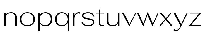 Fahkwang ExtraLight Font LOWERCASE
