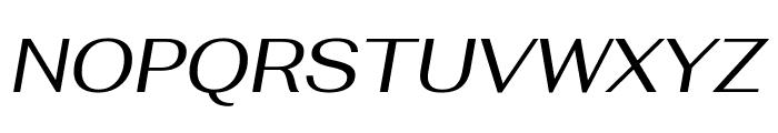 Fahkwang Italic Font UPPERCASE