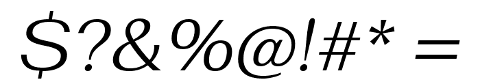 Fahkwang Light Italic Font OTHER CHARS