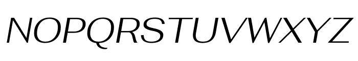 Fahkwang Light Italic Font UPPERCASE