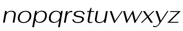 Fahkwang Light Italic Font LOWERCASE