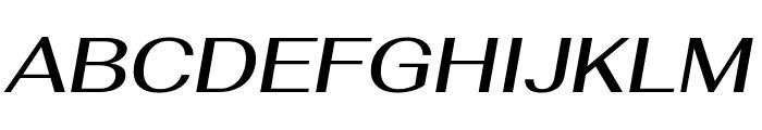Fahkwang Medium Italic Font UPPERCASE