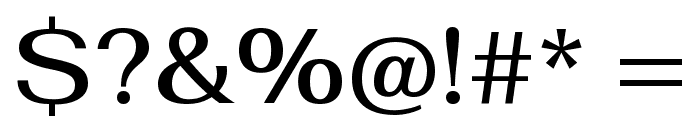 Fahkwang Medium Font OTHER CHARS