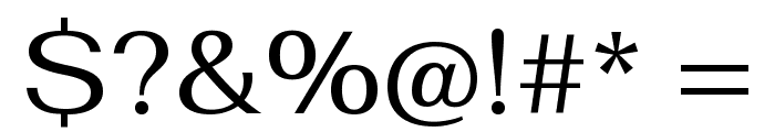 Fahkwang Regular Font OTHER CHARS
