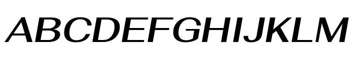 Fahkwang SemiBold Italic Font UPPERCASE