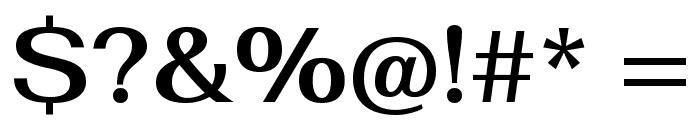 Fahkwang SemiBold Font OTHER CHARS