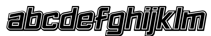 Failed 3d Filled Italic Font LOWERCASE