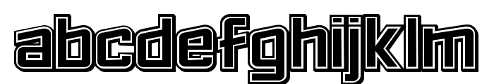 Failed 3d Filled Regular Font LOWERCASE