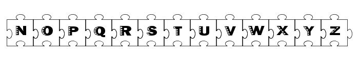 Failed Font 2   Jigsaw Font UPPERCASE