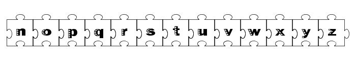 Failed Font 2   Jigsaw Font LOWERCASE