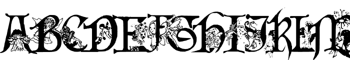 Fairies Gone Wild Font UPPERCASE