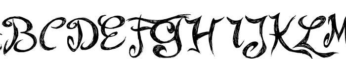 Fairy Strange Font UPPERCASE