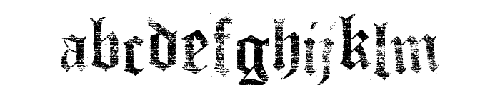 Faith Collapsing Font LOWERCASE