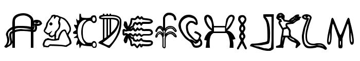 FakeHieroglyphs Font UPPERCASE