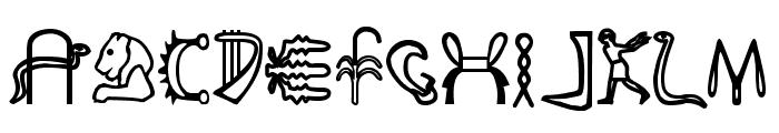 FakeHieroglyphs Font LOWERCASE