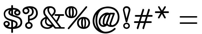 FakedesOutline-Bold Font OTHER CHARS