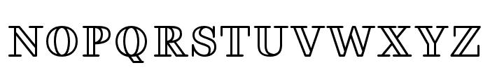FakedesOutline-Bold Font UPPERCASE