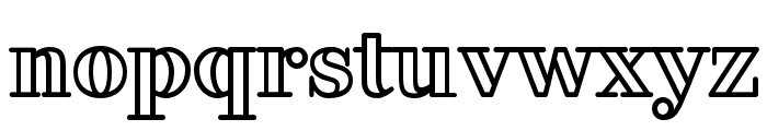 FakedesOutline-Bold Font LOWERCASE