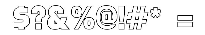 Faktos Outline Font OTHER CHARS