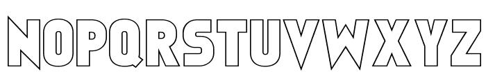 Faktos Outline Font UPPERCASE