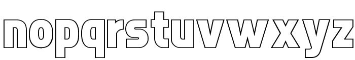 Faktos Outline Font LOWERCASE