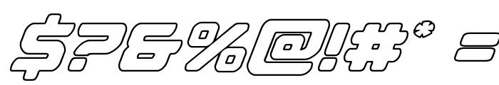 Falcon Punch Outline Font OTHER CHARS