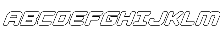 Falcon Punch Outline Font UPPERCASE