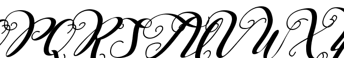 Falencia Italic Font UPPERCASE